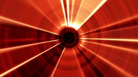 2D Red Tron Tunnel Portal Vortex with Light Rays stock video footage