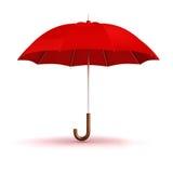 3d red umbrella Stock Photos
