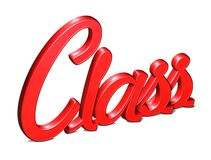 3D Red Word Class on white background.  Royalty Free Stock Photos