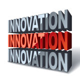 3d red word Innovation Royalty Free Stock Photos