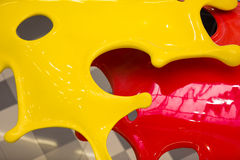 3d red and yellow paints Royalty Free Stock Photos