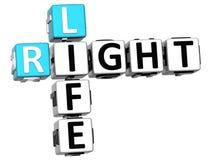 3D redressent des mots croisé de la vie Photos libres de droits