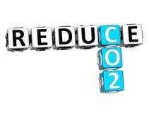 3D Reduce CO2 Crossword Stock Photo