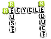 3D reduzem a reutilização reciclam palavras cruzadas Fotos de Stock