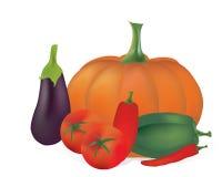 3D Reeks Vectorgroenten. Tomaten, Peper, Pompoen Royalty-vrije Stock Fotografie
