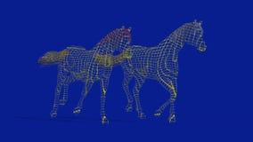 3D REENDENDO DO PAR DE CAVALOS DE CAVALO ilustração royalty free