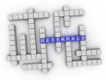 3d Referrals word cloud concept.  Stock Images