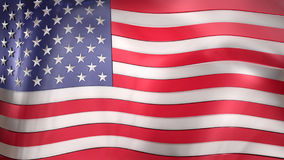 3D reflective United States of America flag Royalty Free Stock Photography