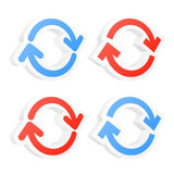 3d refresh circle arrows. Set of 3d refresh circle arrows. Vector illustration Royalty Free Stock Images