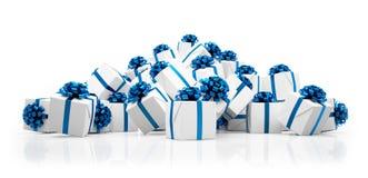3d - regalos de Navidad Imagen de archivo