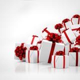 3d - regalos de Navidad Fotografía de archivo
