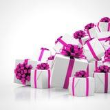 3d - regalos de Navidad Fotos de archivo libres de regalías