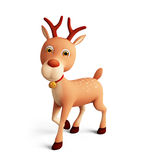 3d reindeer for christmas Stock Photography