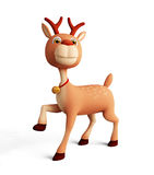 3d reindeer for christmas Stock Photo