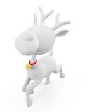 3d  Reindeer is running Stock Images
