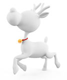 3d Reindeer is running Royalty Free Stock Images