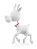 3d Reindeer with running Royalty Free Stock Photo
