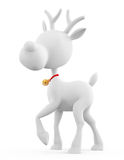 3d Reindeer with standing pose Stock Images
