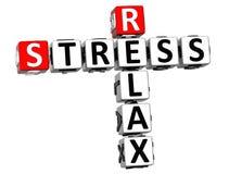 3D Relaksują stresu Crossword na białym tle Obrazy Royalty Free