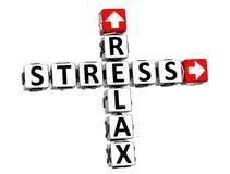 3D Relaksują stresu Crossword Zdjęcia Royalty Free