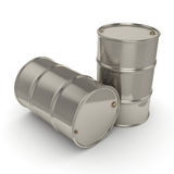 3D rendant beaucoup barils de chrome Photographie stock libre de droits