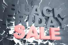 3D rendant Black Friday, message de vente pour la boutique Bannière de magasin de houblonnage d'affaires pour Black Friday Écrase Photo stock