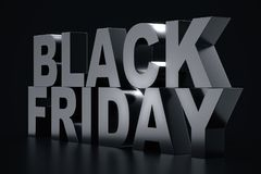 3D rendant Black Friday, message de vente pour la boutique Bannière de magasin de houblonnage d'affaires pour Black Friday Vente  Image stock
