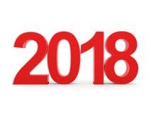 3D rendant 2018 chiffres de rouge de nouvelle année Image libre de droits