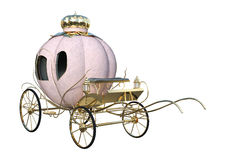 3D rendant Cinderella Carriage sur le blanc Photo libre de droits