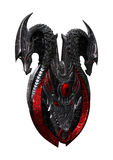 3D rendant Dragon Shield sur le blanc Illustration Libre de Droits