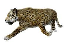 3D rendant grande Cat Jaguar sur le blanc illustration de vecteur