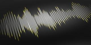 3d rendant l'onde sonore sur le fond noir Photo stock