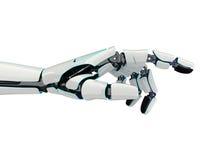 3D rendant la main robotique sur un fond blanc Photos stock