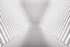 3D rendant la pièce abstraite intérieure avec les lampes au néon Fond futuriste d'architecture Maquette pour votre conception Images libres de droits