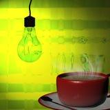 3d rendant la tasse de café Photos libres de droits