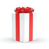 3D rendant le boîte-cadeau blanc Photo libre de droits