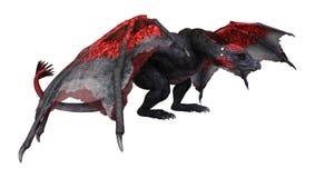3D rendant le dragon de conte de fées sur le blanc image libre de droits