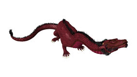 3D rendant le dragon oriental sur le blanc Image stock