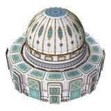 3D rendant le palais d'Oriental de conte de fées illustration de vecteur