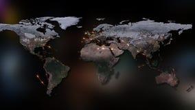 3D rendant le résumé du réseau du monde, de l'Internet et du concept global de connexion Éléments de cette image meublés par la N Images stock