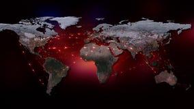 3D rendant le résumé du réseau du monde, de l'Internet et du concept global de connexion Éléments de cette image meublés par la N Photos libres de droits