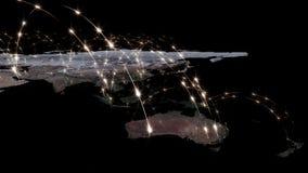 3D rendant le résumé du réseau du monde, de l'Internet et du concept global de connexion Éléments de cette image meublés par la N Photo stock