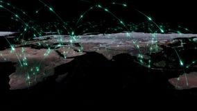 3D rendant le résumé du réseau du monde, de l'Internet et du concept global de connexion Éléments de cette image meublés par la N Photo libre de droits
