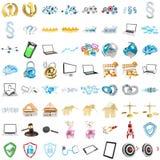 3D rendant les icônes modernes Image libre de droits