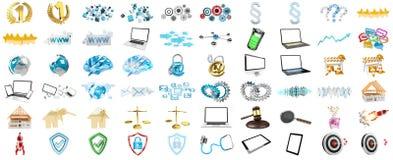 3D rendant les icônes modernes Photos stock