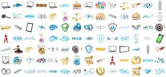3D rendant les icônes modernes Image stock