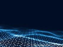 3d rendant les points et les lignes futuristes abstraits structure numérique géométrique de connexion d'ordinateur Grille abstrai Photo stock