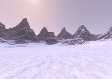 3D rendant Misty Mountains Image libre de droits