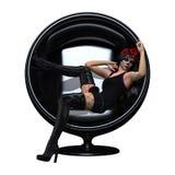 3D rendant Sugar Skull Girl sur le blanc Photographie stock libre de droits