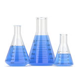 3D rendant un ensemble d'ustensiles chimiques Images stock